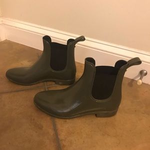 Sam Edelman Rain Boots Sz 8 in dark green